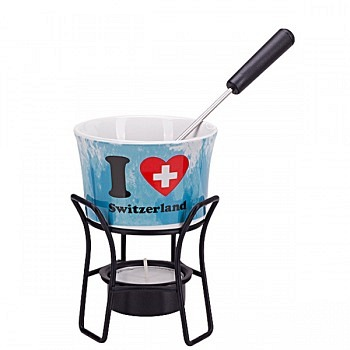 Schoggi Fondue Set für 1Pers. Switzerland