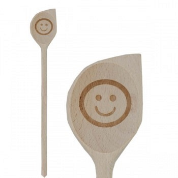 Holzkelle mit Smiley
