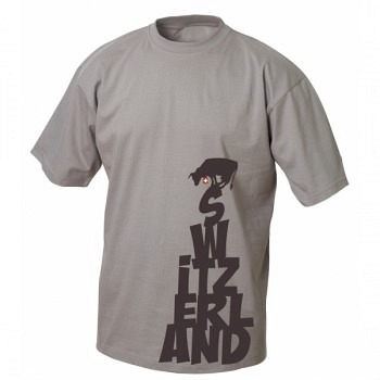 T-Shirt Switzerland grau